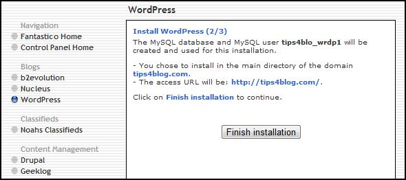 Install WordPress (2/3)