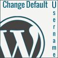 change default username