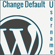 change default username
