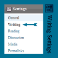 Writing Settings