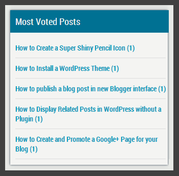 wp post voting sidebar