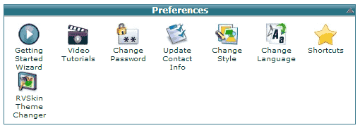 cPanel Preferences