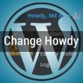 change howdy wordpress