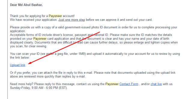 Payoneer-Master-Card-Apply-id-upload